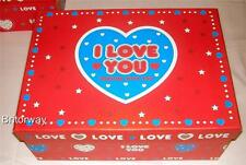 "9 x Stackable Gift Storage Box Set with Lid "" I Love you"" Valentine Xmas Nesting"