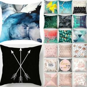 Cushion COVER Soft Decorative Throw Pillow Case Home Bed Sofa Pillowcase Printed