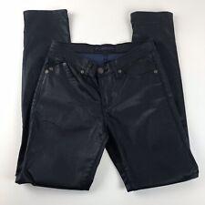 "Rock Republic Womens 10 M Black Pants Berlin Coated Shiny Skinny  33"" Inseam"