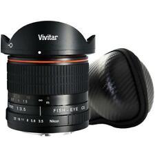 Vivitar 8mm Fisheye Lens for Nikon + Vivitar 8MM Hard Shell Lens Case