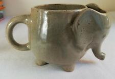 Urban Outfitters Elephant Mug Tea Bag Holder Grey