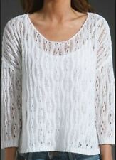 360 Sweater Seraphina White Linen Pointelle Sweater Revolve Clothing $158