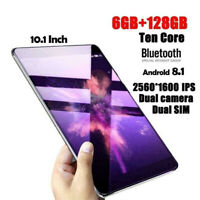 """10.1"""" HD Touch Screen 6+128GB Android Dual SIM Camera WIFI PC Tablet"""