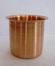 India Copper Glass Vessel for Hindu Puja Havan Diwali Navratra Relgigious Temple