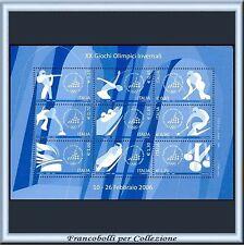 2006 Italia Repubblica Foglietto Giochi Olimpici Invernali Torino n 45 Olimpiadi