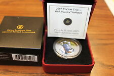 2007 25 cent RED-BREASTED NUTHATCH COMES WITH BOX & COA FROM ROYAL CND MINT