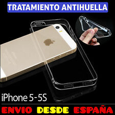 FUNDA TPU DE GEL SILICONA ANTIHUELLAS TRANSPARENTE PARA IPHONE 5 5S CARCASA