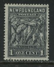"Newfoundland 1932 1 cent black used ""Major Re-entry in One Cent"""