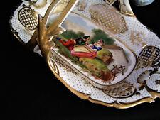 Old Paris Hand Painted Rectangular Shallow handled bowl