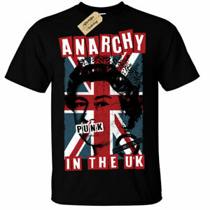 Anarchy in The UK Punk Rock T-Shirt rotten mens union jack uk flag