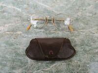 Vintage Dioptric Glasses , Eyeglasses BISHOP With Leather Case Holder