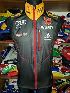 DSV Deutschland Weste Gr M D5 Adidas Ski Audi Wurth Trikot Jacke Gilet (n803)