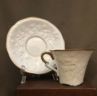 Royal Stafford Old English Oak Coffee/Tea Cup and Saucer Set - Fine Bone China