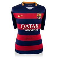 Lionel Messi Official Front Signed Barcelona 2015-16 Home Shirt Autograph