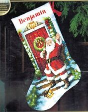 """Dimensions Gold Cross Stitch Kit Welcome Santa Stocking Christmas New 16"""""""