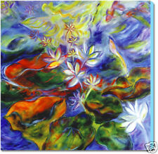 FENG SHUI  PAINTING  FINE ART GICLEE PRINT ON CANVAS