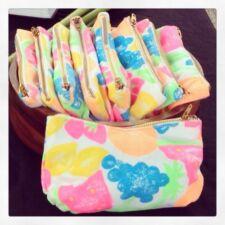 Small Fruit Print Makeup Bag