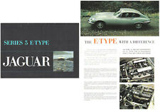 Jaguar E Type V12 5.3 Litre Series 3 1971-75 Original UK Foldout Sales Brochure
