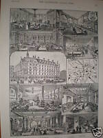Manchester Hotel Aldersgate London 1891 prints