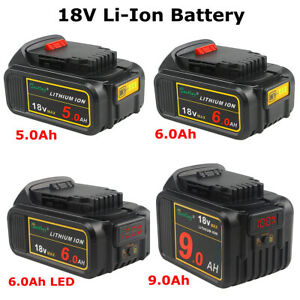 18V 5.0Ah 6.0Ah 9.0Ah Li-ion Battery for Dewalt XR DCB180 DCB182 DCB184 DCB200