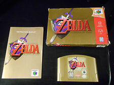 Legend of Zelda Ocarina of Time Gold Collector's Edition (Nintendo 64) Complete!