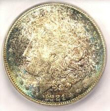 1921-D Morgan Silver Dollar $1 Rainbow - ICG MS66 - Rare in MS66 - $650 Value!