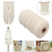 200m 2/3mm Crafts Macrame Cotton Twisted Cord für Wandbehang DIY Dream Catcher