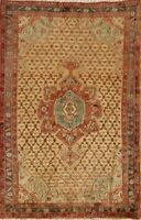 Vintage Geometic Sarab Hand-Knotted Wool Area Rug Home Decor Oriental Carpet 4x6