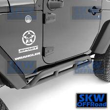 HD 2 Door Black Rock Crawler Slider Armor Rocker Guards fit 07-17 Jeep Wrangler