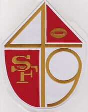 "HUGE San Francisco 49ers Jacket Patch 10"" High x 7.5"" Wide Old Logo Throwback"
