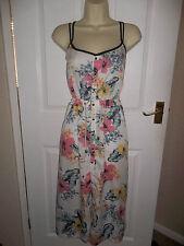Strappy, Spaghetti Strap Summer/Beach Floral Tea Dresses
