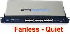 Linksys (Cisco) SRW2024 24-Port 10/100/1000 Gigabit Switch Fanless Quiet