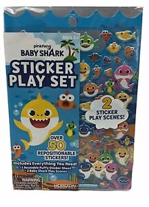 Baby Shark Sticker Play Set 50 Repositionable Stickers & 2 Play Scenes