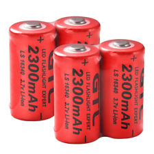 4x 3.7V CR123A Rechargeable Battery 2300mAh GTL Cell Flashlight Batteries RC1038