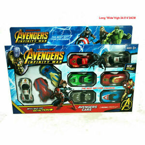 9pcs Marvel Avengers Infinity War Spiderman Black Panther Widow Thor PVC Diecast