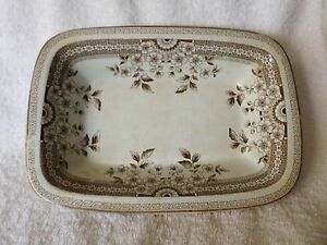 Antique Foley AF & Co OPEN VEGETABLE BOWL Brown Aesthetic Staffordshire Crown 20