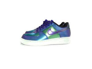 Nike Sneakers Purple Green Air Force 1 Low LV8 PS Neptune Unisex Kids Size 2Y