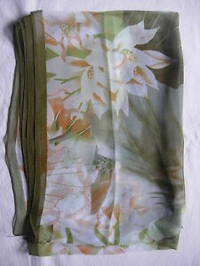 New Lotus Flower Design Scarf  Wrap  160cm x 52cm Choose 6 Colour