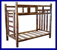 Classic Cedar Rustic Log Bunk Bed - Twin/Twin