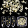 3D Glitter Gold Metal Snowflake Slices Christmas Nail Sequins Nail Art Decals