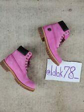 "Timberland Mens 6"" Waterproof Boots x Mn Sz 9.5 Pink Breast Cancer Susan G Komen"