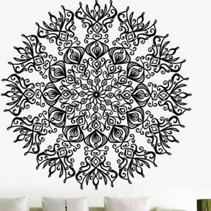 1x Vintage Mandala Wall Decal Yoga Vinyl Sticker Namaste Bohemian Art Home Decor