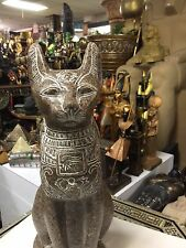 Out or Indoor Large Egyptian Cat Goddess Bast Statue Hand Carved Made In Egypt