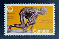 Canadian Stamps, Scott #656 1975 1 Dollar Montreal Olympics 'Sprinter' Mint/NH