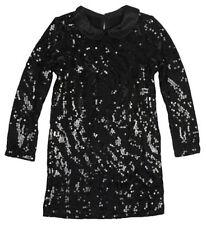 Vestidos de niña de 2 a 16 años de manga larga en negro