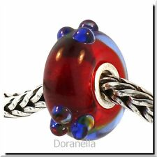 Authentic Trollbeads Glass 61328 Blue Flower Bud :0 RETIRED