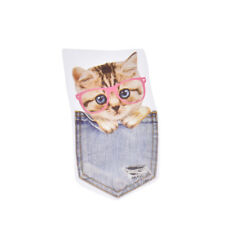 cute cat patches for clothes iron-on transfers easy print by household irons ekv