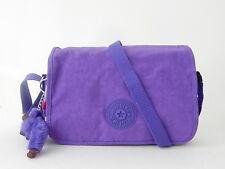 NWT Kipling Women's Delphin N Shoulder Bag With Furry Monkey Vivid Purple