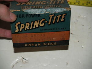 Spring Tite Piston Rings - Chevrolet 6 Cylinder (207)1934 1935 1936 .030 to .039