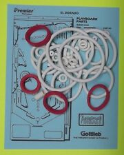 1984 Gottlieb El Dorado City of Gold pinball rubber ring kit